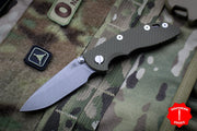 "Hinderer XM-18 3.0"" Non-Flipper OD Green G-10 With Working Finish Spearpoint Edge Gen 6 Tri-Way Pivot System"