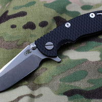 "Hinderer XM-18 3.0"" Black G-10 With Stonewash Spearpoint Edge Gen 6 Tri-Way Pivot System"