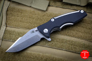 "Hinderer Eklipse 3.0"" Black G-10 With Harpoon Spanto Stonewash Blade Gen 6 Tri-Way Pivot System"