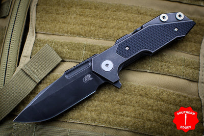 Hinderer Fulltrack Battle Black Titanium/Black G-10 Handle Spanto Battle Black Blade Gen 6 Tri-Way Pivot System