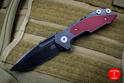 Hinderer Fulltrack Battle Black Titanium/Red G-10 Handle Spanto Battle Black Blade Gen 6 Tri-Way Pivot System