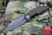 Hinderer Fulltrack Battle Bronze Titanium/OD Green G-10 Handle Spanto Stonewash Blade