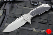 Hinderer Fulltrack Working Finish Titanium/Black G-10 Handle Spanto Working Finish Blade Gen 6 Tri-Way Pivot System