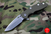 "Hinderer XM-18 3.0"" OD Green G-10 With Stonewash Spearpoint Edge"