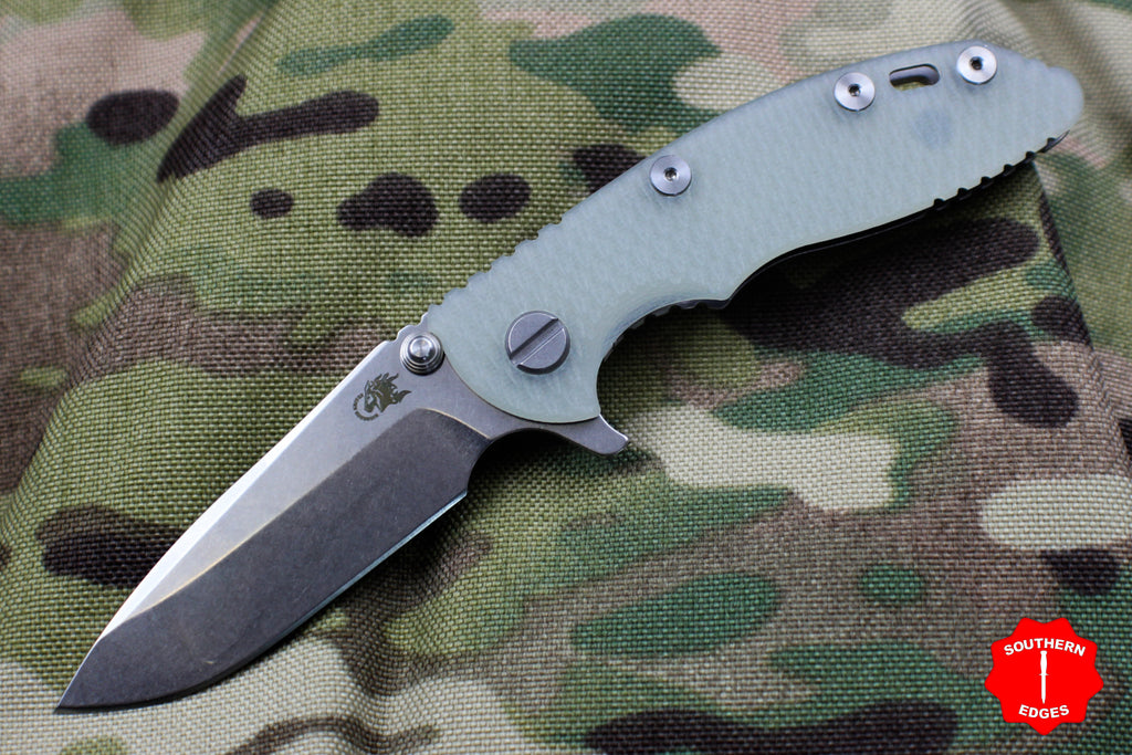 "Hinderer XM-18 3.0"" Translucent G-10 With Stonewash Spearpoint Edge"