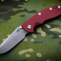 "Hinderer XM-18 3.5"" Non-flipper Red G-10 Spearpoint Working Finish Gen 6 Tri-Way Pivot System"