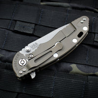 "Hinderer XM-18 3.5"" Battle Bronze Handle Coyote G-10 Spanto Edge Working Finish Blade Gen 6 Tri-Way Pivot System"