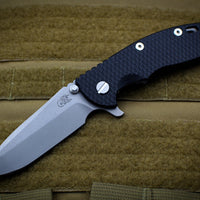 "Hinderer XM-18 3.5"" Black G-10 Spanto Working Finish Blade Gen 6 Tri-Way Pivot System"