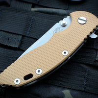 "Hinderer XM-18 3.5"" Coyote G-10 Spanto Working Finish Blade Gen 6 Tri-Way Pivot System"