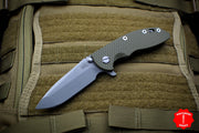 "Hinderer XM-18 3.5"" OD Green G-10 Spanto Working Finish Blade Gen 6 Tri-Way Pivot System"