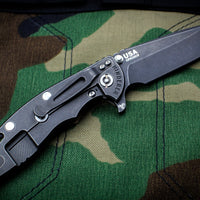 "Hinderer XM-18 3.5"" Spearpoint Coyote G-10 & DLC Battle Black Finished Handle Battle Black DLC Blade Gen 6 Tri-Way Pivot System"