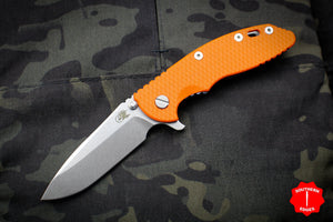 "Hinderer XM-18 3.5"" Spearpoint Orange G-10 Stonewash Blade Gen 6 Tri-Way Pivot System"