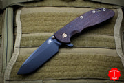 "Hinderer XM-24 4.0"" Vintage Smooth Walnut Handle Black Spearpoint Blade Anitque Finished Ti Gen 6 Tri-Way Pivot System"