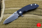 "Hinderer XM-18 3.0"" Skinny Black G-10 With Stonewash Sheepsfoot Edge Gen 6 Tri-Way Pivot System"