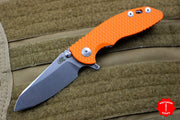 "Hinderer XM-18 3.0"" Skinny Orange G-10 With Stonewash Sheepsfoot Edge Gen 6 Tri-Way Pivot System"