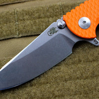 "Hinderer XM-18 3.0"" Skinny Orange G-10 With Stonewash Sheepsfoot Edge"