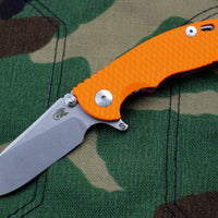 "Hinderer XM-18 3.0"" Skinny Orange G-10 With Stonewash SLICER Edge Gen 6 Tri-Way Pivot System"