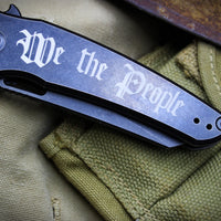 "Hoback OSF Folder Special ""We The People"" Black Blade and Handle"