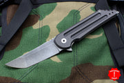 Hoback Kwaiback Folder, Grey/Black Cerakoted Titanium and Carbon Fiber