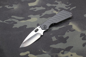Strider Knives Fatty SnG Mis-Marked Blade Steel Flamed over Satin Finished Titanium/Black Aluminum Handle