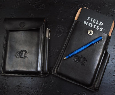 Hinderer Investigator Notebook Leather Case - Black