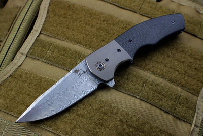 Kirby Lambert Augustus Custom Folder Damasteel Blade