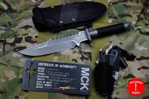 Marfione Custom Interceptor Fixed Two-tone Apocalyptic Black Cord with Kydex Sheath