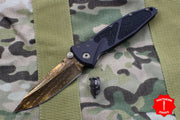Marfione Custom Socom Elite Single Edge Razorwire Damascus W Bronze HW 360-MCK SERW