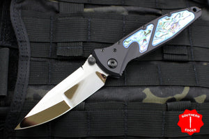Marfione Custom Socom Elite Single Edge Mirror Polish Abalone Inlaid DLC HW 360-MCK SEHP ABALONE