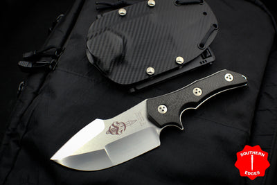 Marfione Knife Collection Archive Apex Fixed Blade Satin with Carbon Fiber Scale