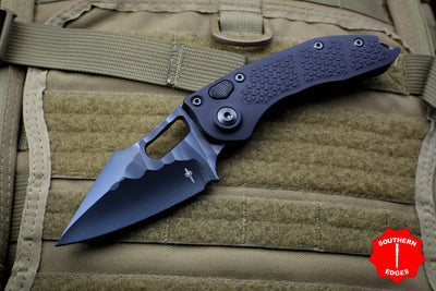 Marfione Knife Archive Serial Number 03! Custom Borka Stitch Auto DLC Rock Grind DLC HW Flamed Backspacer