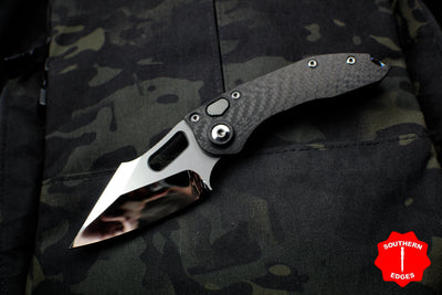 Marfione Custom Stitch Mirror Polish Carbon Fiber Handle Flamed Backspacer