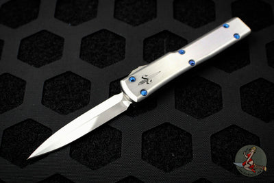 Marfione Custom Stainless Steel UTX-70 Double Edge Spike Grind Mirror Polish Blue HW 347-MCK SSDE HPBL