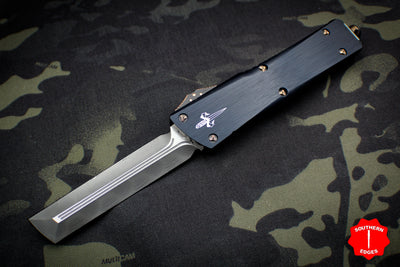 Marfione Custom Combat Troodon Hardedge Black with Vegas Forge Damascus Blade Copper-Ringed HW