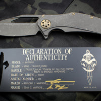 Marfione Custom Matrix-R with Fallout Blade and Fallout Copper HW 365-MCK FOCU