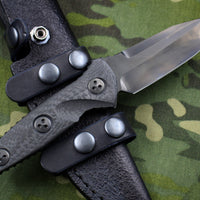 Marfione Custom Mini Socom Alpha Drop Point Hand Rubbed DLC Blade Carbon Fiber Handle