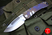 Medford Marauder Fade Titanium Handles Tumbled Drop Point Folder