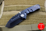 Medford Micro Praetorian T Folder Black PVD Titanium Handle With Black PVD Tanto Edge
