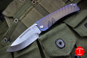 Medford Mid-Sized Marauder Sculpted Fade Version 2 Titanium Handles Drop Point Folder