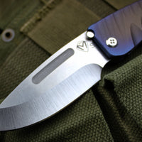 Medford Mid-Sized Midi Marauder Sculpted Fade Version 2 Titanium Handles Drop Point Folder