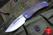 Medford Mid-Sized Midi Marauder Sculpted Fade Titanium Handles Drop Point Folder