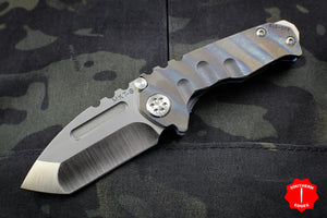 Medford Micro Praetorian T Folder Flamed Titanium Handle With Satin Tanto Edge