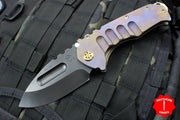 Medford Praetorian Ti PVD Drop Point Tanto PVD handle Purple Ano Pivot