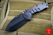 Medford Praetorian T Tanto Edge Blacked Out Folder Black PVD Blade, Handle, and Hardware