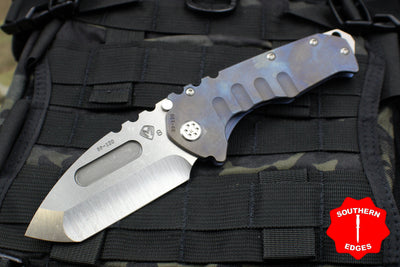Medford Praetorian T Satin Tanto Folder Blue Anodized Titanium Handle