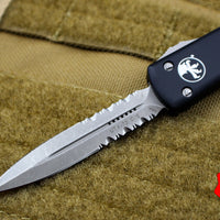 Microtech UTX-70 Black Double Edge (OTF) Apocalyptic Part Serrated Blade 147-11 AP