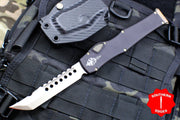 Microtech NO SAFETY Halo VI Signature Series Hellhound W/ Bronze Blade and Hardware 519-13