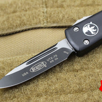 Microtech CALIFORNIA LEGAL UTX-70 Black Single Edge (OTF) Black Body CA148-1