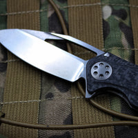 Marfione Custom Mini Matrix with Two-Tone Stonewash Blade Carbon Fiber