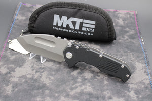 Medford Praetorian P Black with Tumbled Tanto Blade